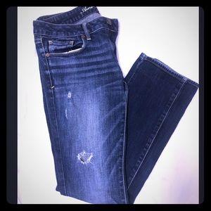 American Eagle, denim, distressed jeans